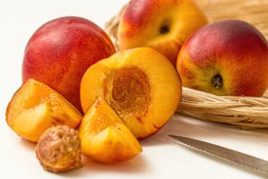 Fresh Ripe Peach Segments