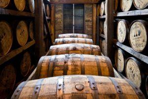 whiskey barrels aging