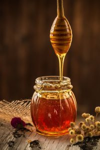 fresh pure honey