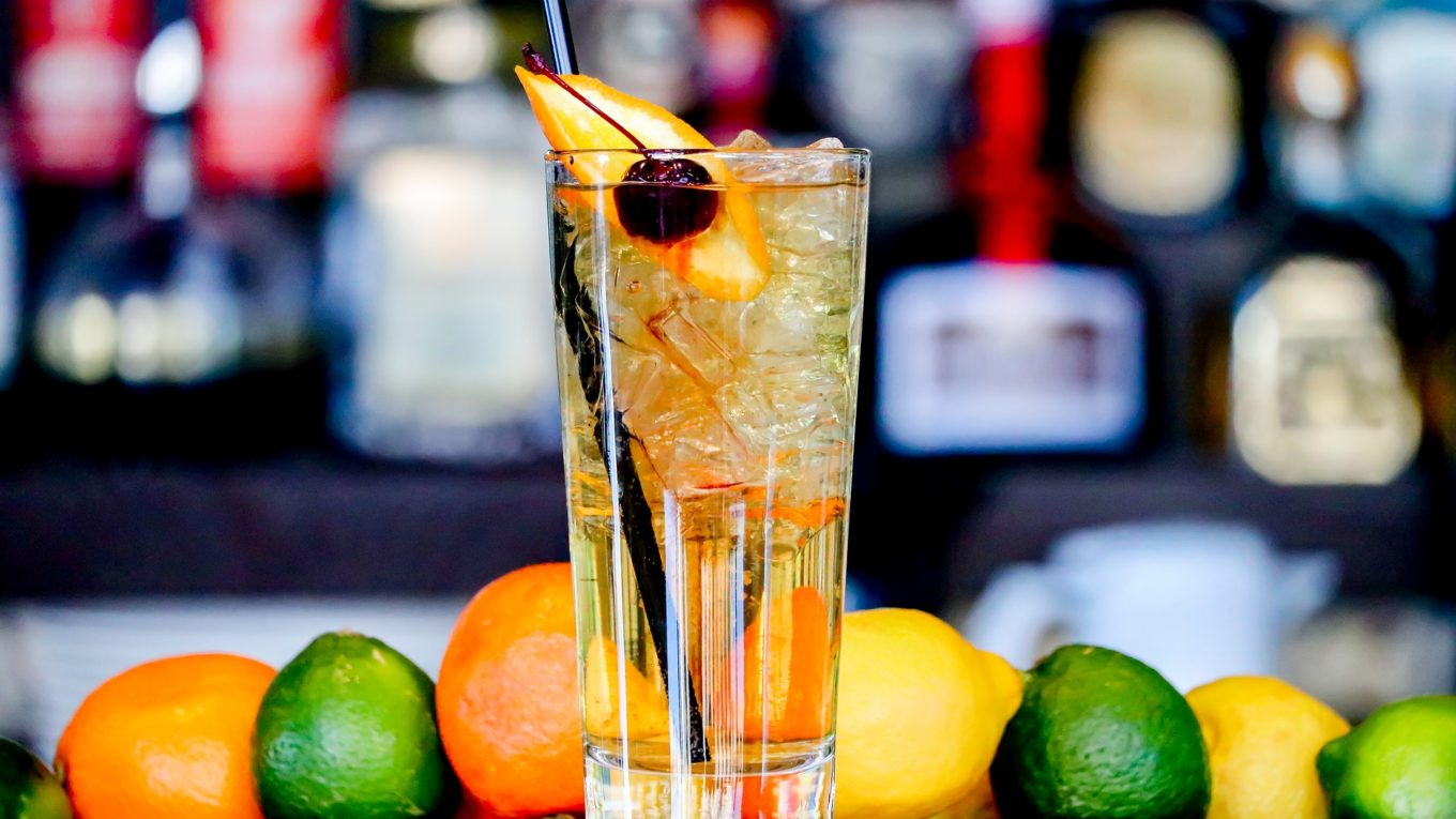 Citrus Gin and Soda in a tall glass