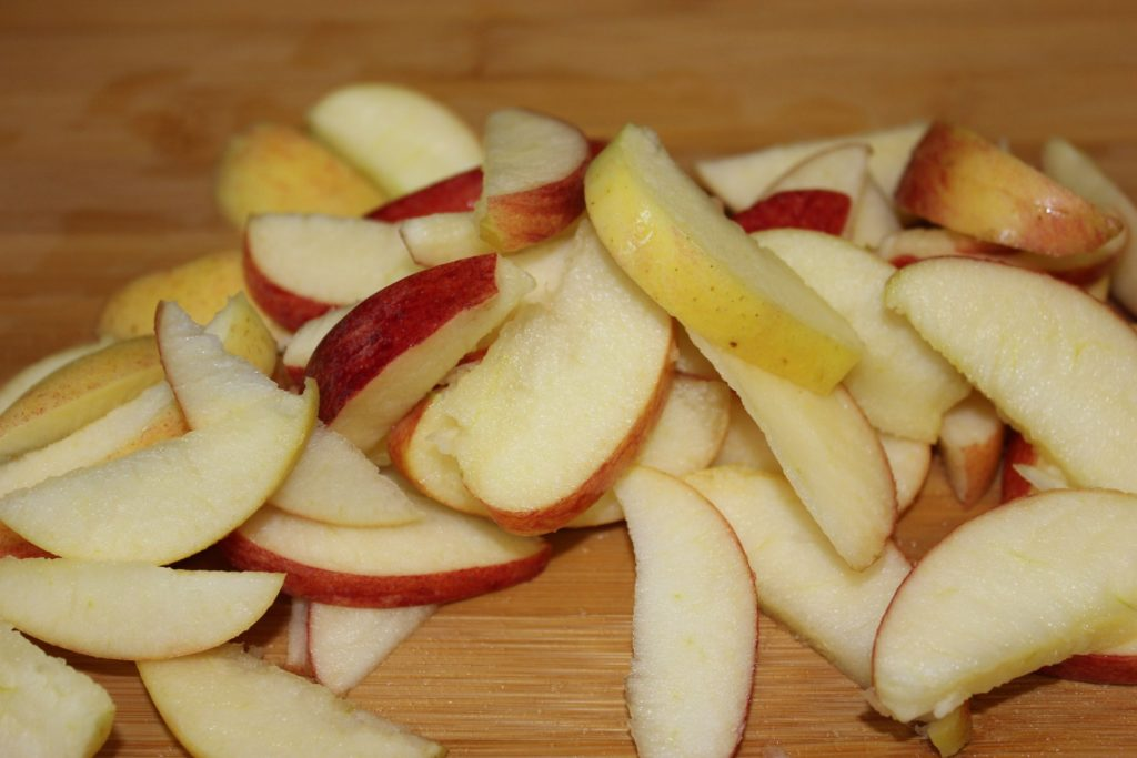 chopped apple slices